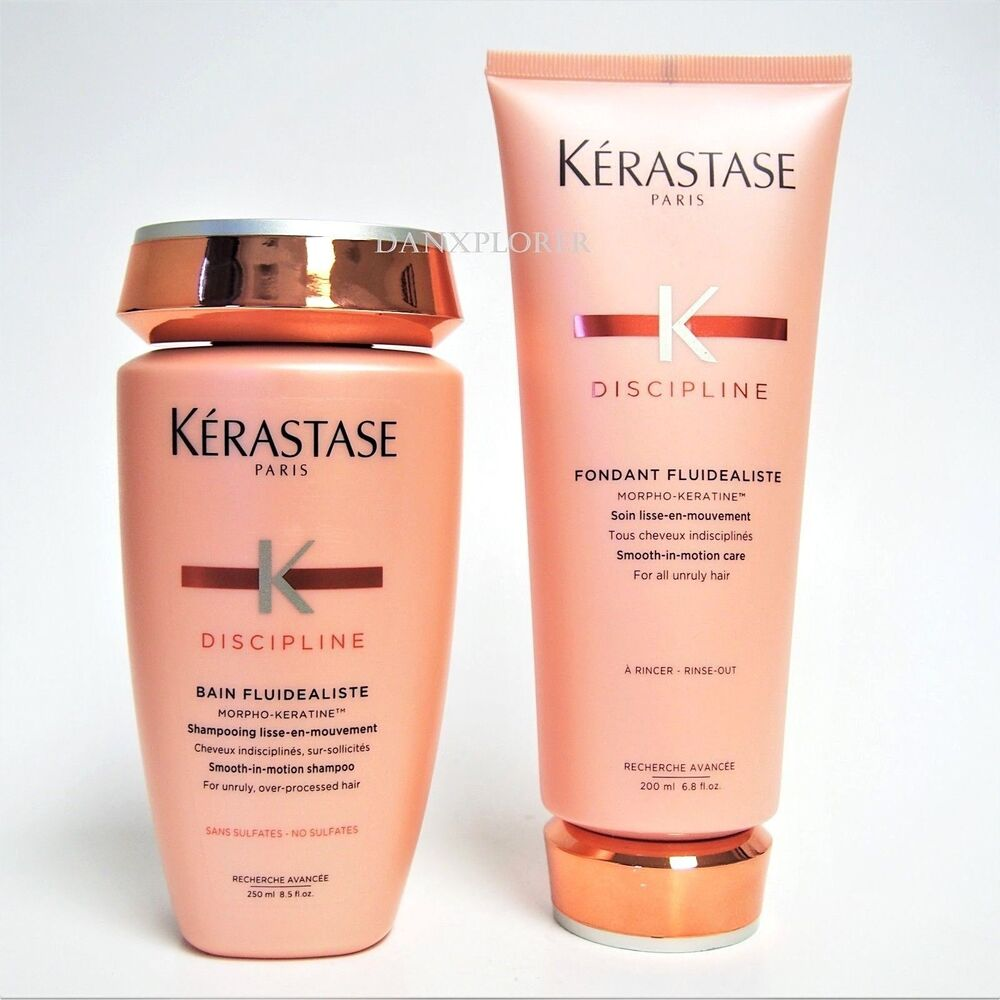 no sulfates kerastase discipline bain and fondant fluidealiste 250 200ml ebay. Black Bedroom Furniture Sets. Home Design Ideas