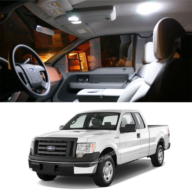 7x White Interior Led Dome Map Lights Package Kit For Ford F 150 2004 2013 L322w Ebay