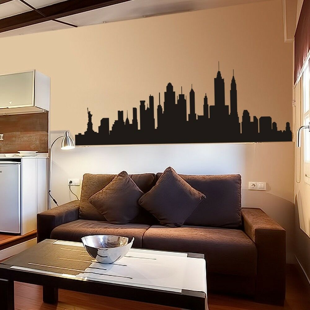 New York City Skyline Wall Sticker Nyc Silhouette Inspired
