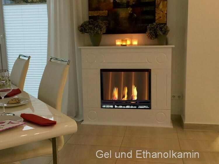 bio gelkamin ethanolkamin kamin fireplace cheminee dion xxl premium royal weiss ebay. Black Bedroom Furniture Sets. Home Design Ideas