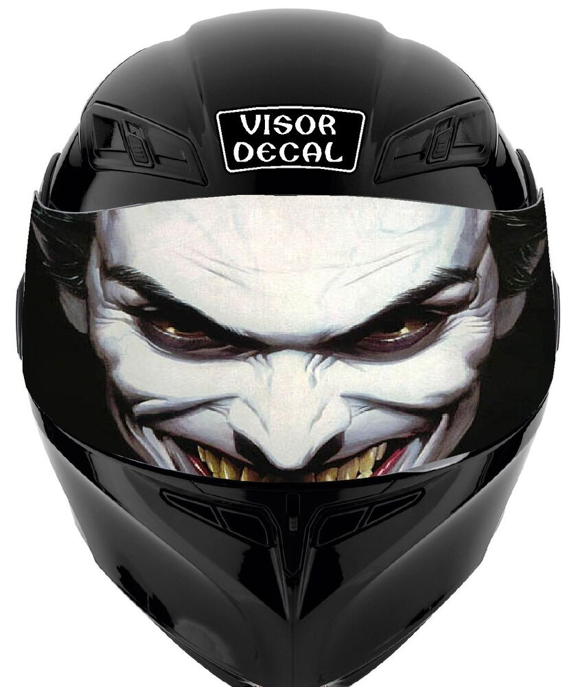 V16 Evil Clown Visor Tint Decal Helmet Universal Fits All