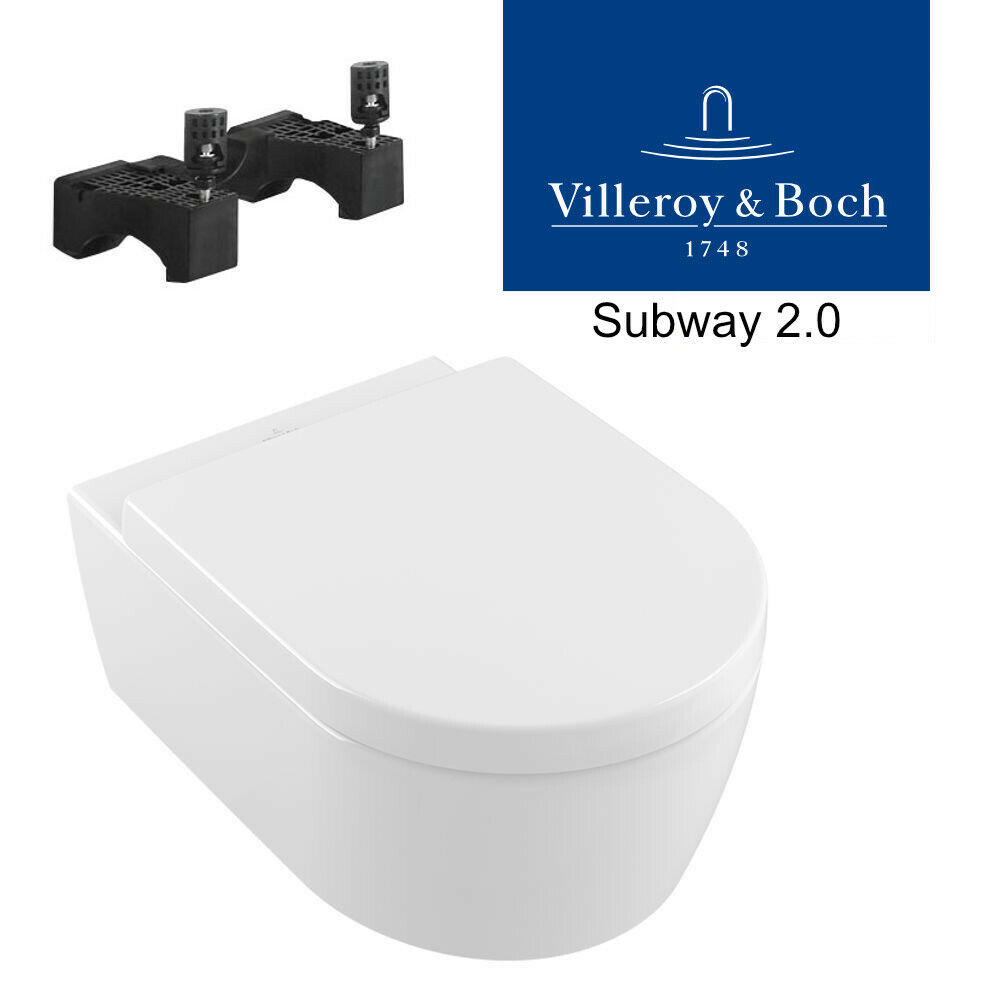 villeroy boch subway 2 0 wand wc ceramicplus sp lrandlos directflush wc sitz ebay. Black Bedroom Furniture Sets. Home Design Ideas