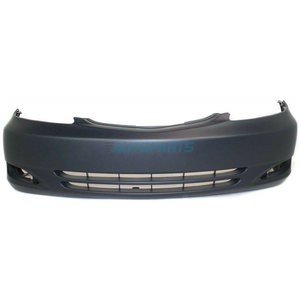 new 2002 2004 to1000231 fits toyota camry front bumper cover with fog light ebay. Black Bedroom Furniture Sets. Home Design Ideas