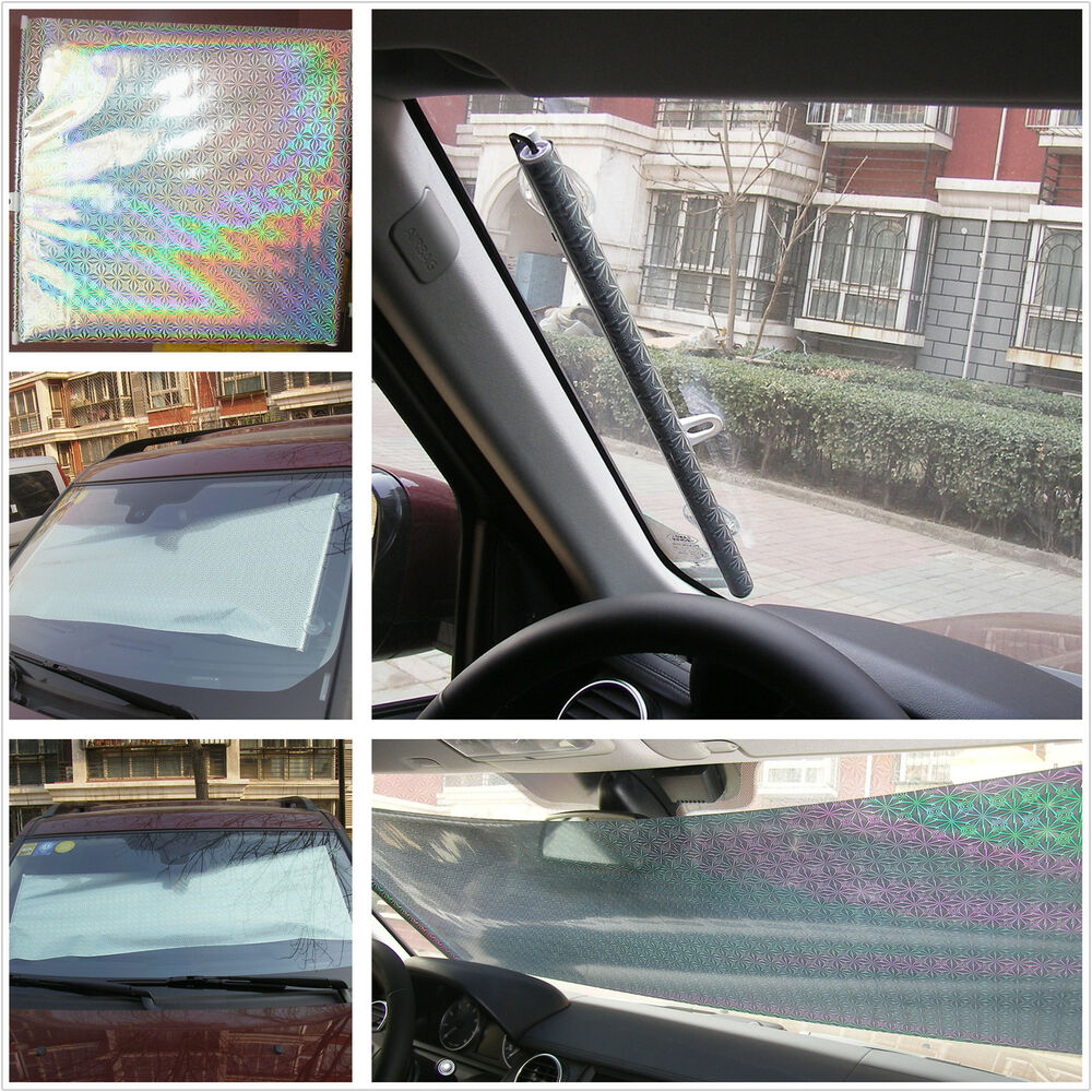 Retractable Car Suv Front Rear Windshield Sunshade Shade