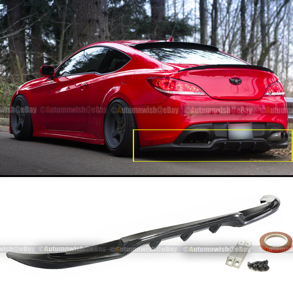 Fit 2dr Genesis Coupe Sport Style Pu Rear Bumper Lip
