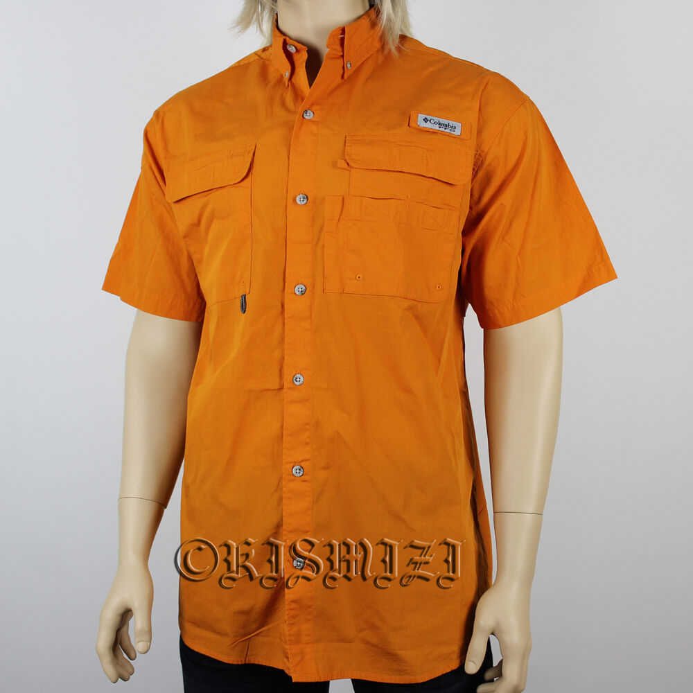 New mens columbia pfg bonehead vented short sleeve for Mens fishing shirts