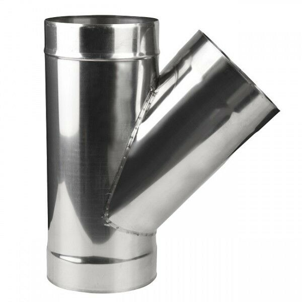 Chimney flue liner y piece degree stainless steel pipe