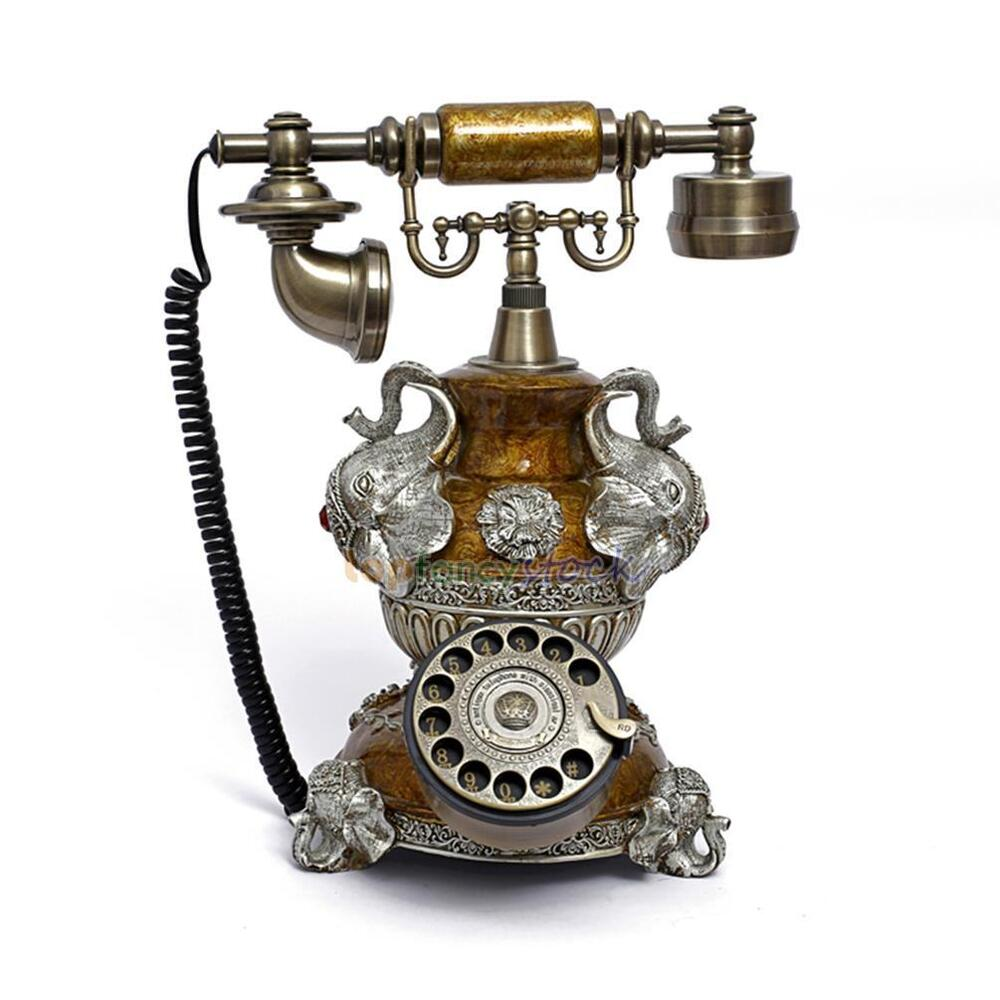 elephant rotary phone antique retro vintage home office decor corded telephone ebay. Black Bedroom Furniture Sets. Home Design Ideas