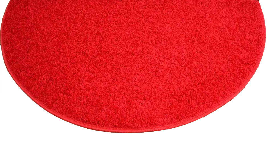 New half moon rug semi circle bright red mat cheap carpet for Cheap small round rugs