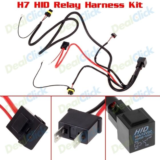 h7 relay wiring harness for hid conversion kit fog lights. Black Bedroom Furniture Sets. Home Design Ideas