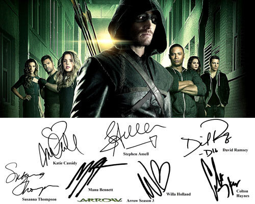 arrow season 3 cast signed photo autograph reprint stephen