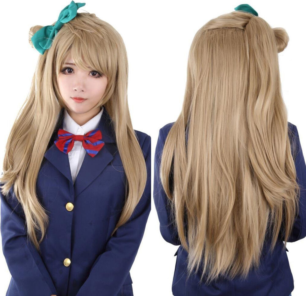 Love Live! Minami Kotori Cosplay Wig Brown Synthetic Hair ...