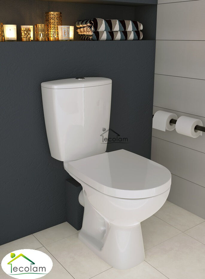 wc toilette stand tiefsp ler bodenstehend sp lkasten keramik sitz cersanit ae ebay. Black Bedroom Furniture Sets. Home Design Ideas