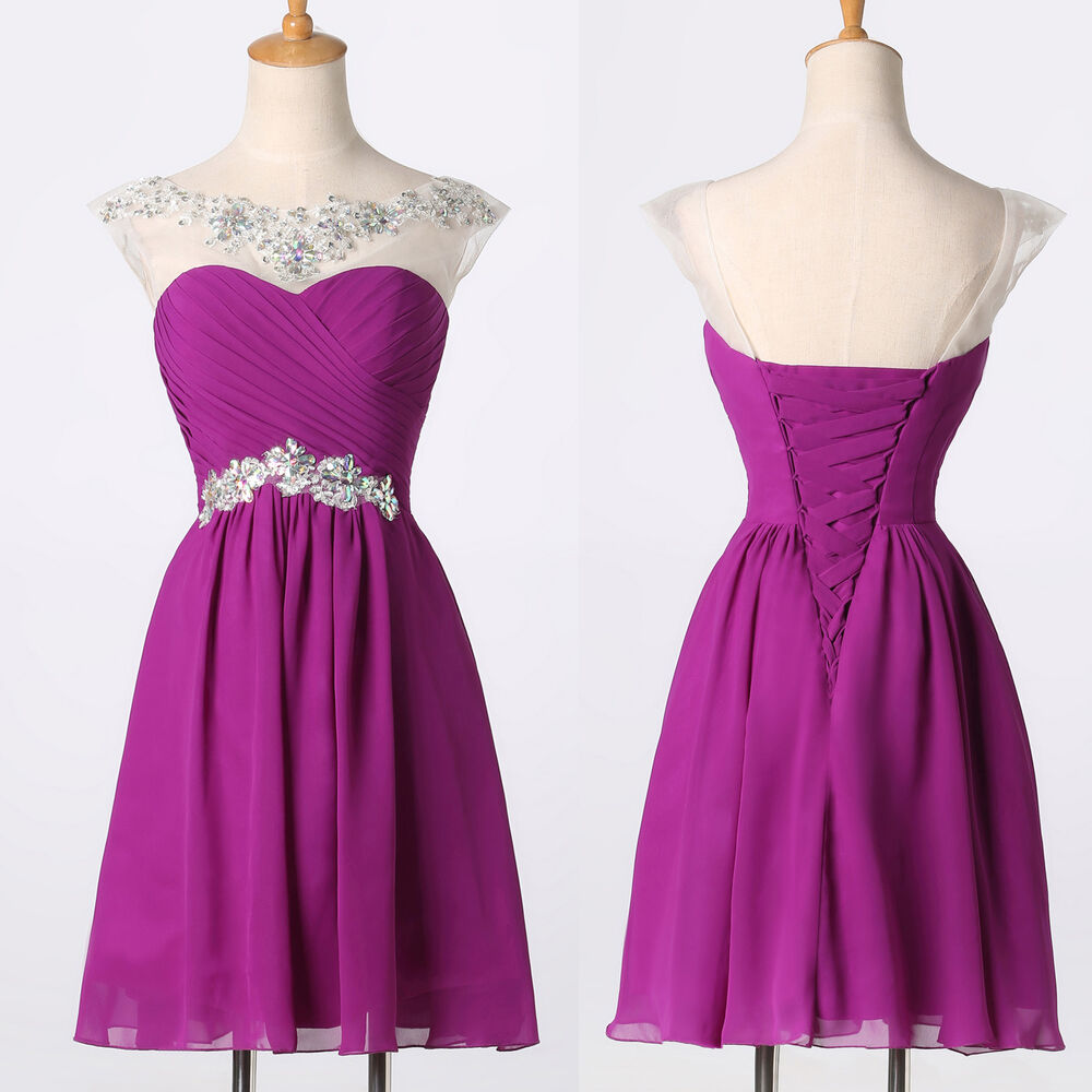 Short Purple Bridesmaid Dresses Ebay - Wedding Dresses In Jax