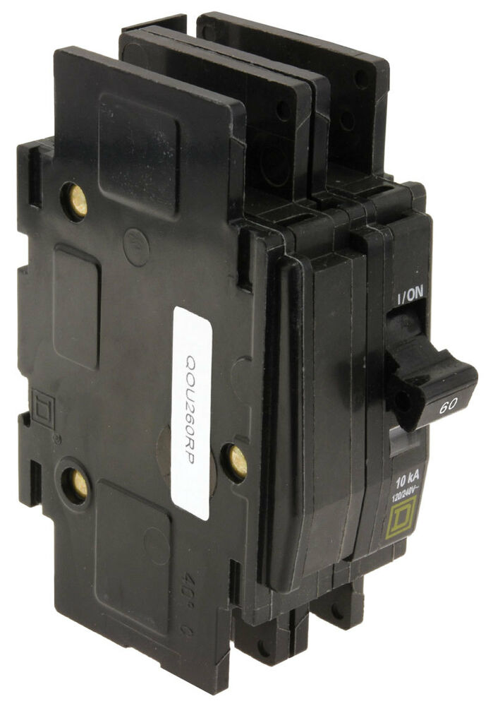 new square d qou260 2p 60a 120 240v circuit breaker ebay