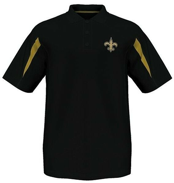 new orleans saints moist management synthetic mens polo