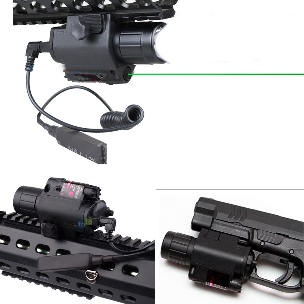 2in1 Tactical Hunting Led Flashlight Green Laser Combo For