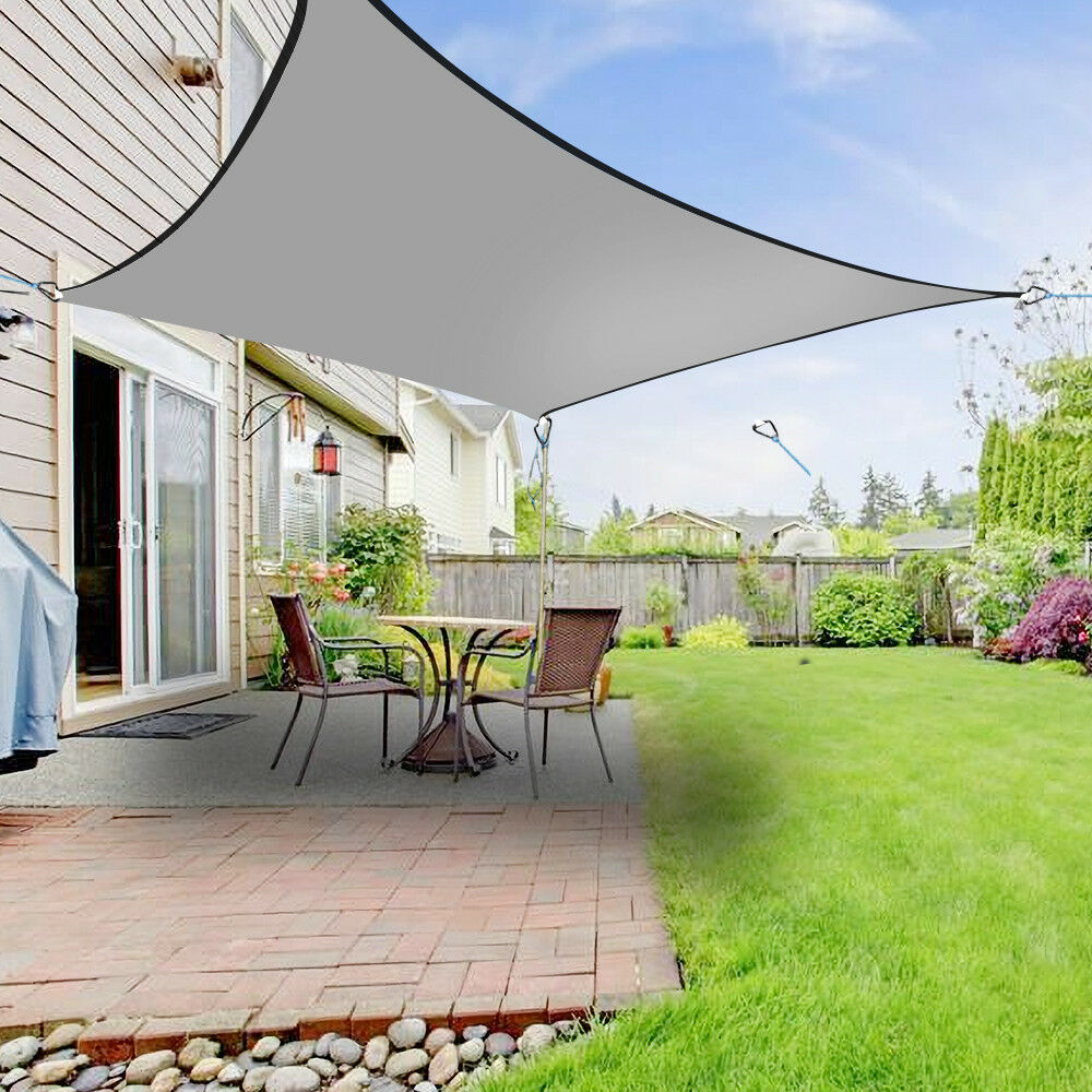 5m Sun Shade Sail Garden Patio Awning Canopy 98% UV Block ...