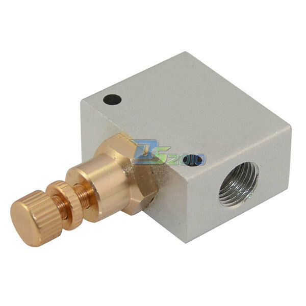 Pneumatic Flow Control Valves : New quot one way air flow control mechanical pneumatic gas