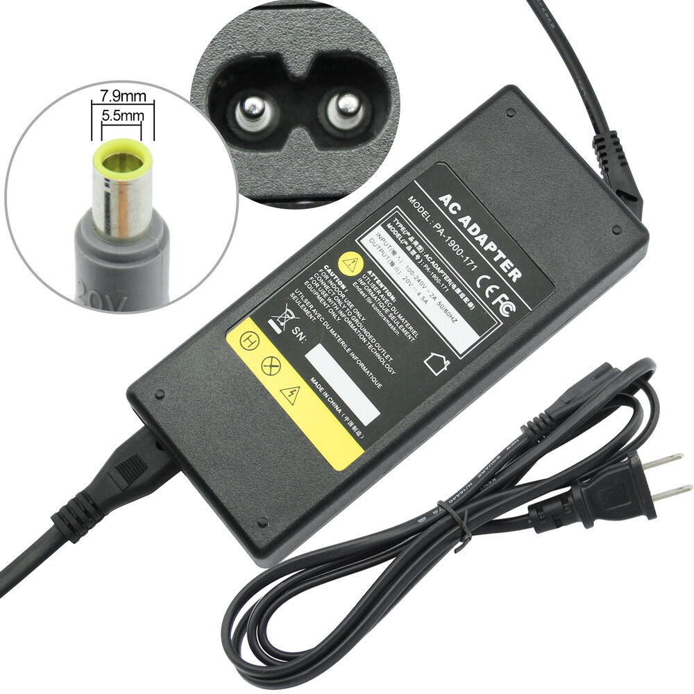 90w 20v 4 5a Ac Adapter Power Supply Charger For Ibm
