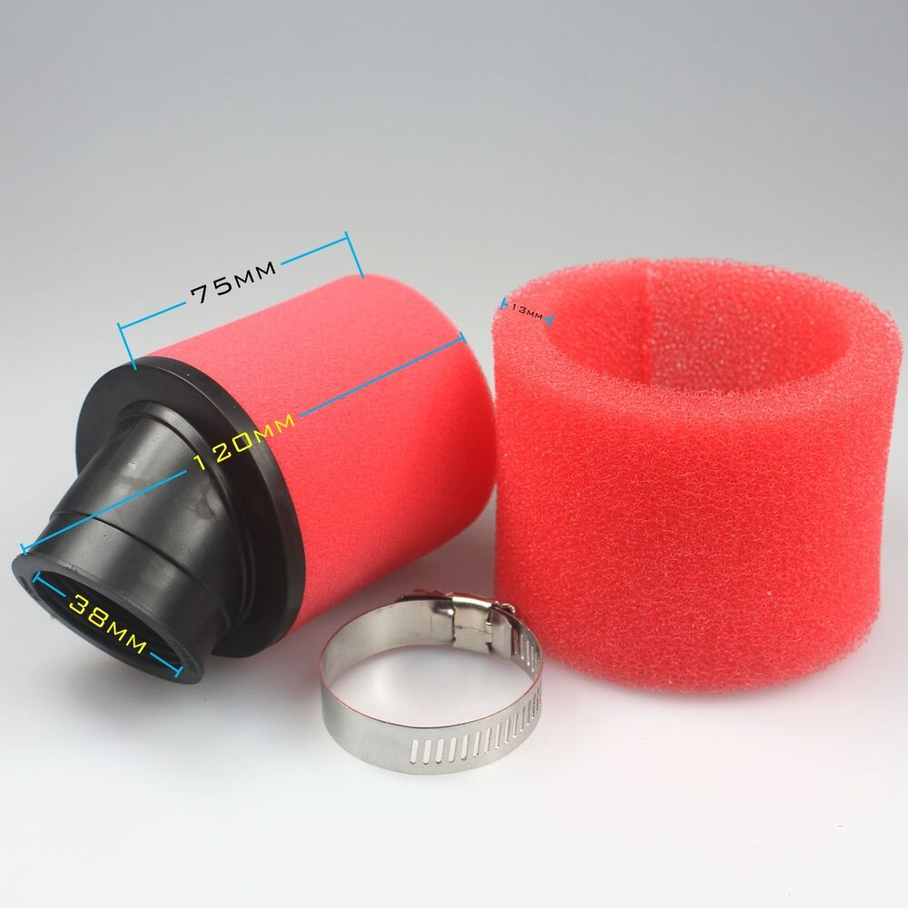Foam Air Cleaner : Mm foam air filter cleaner moped scooter cc