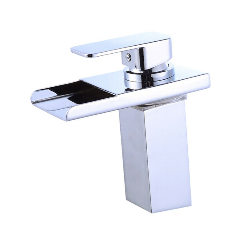 7 quot led bathroom sink faucet vessel waterfall chrome water 19171