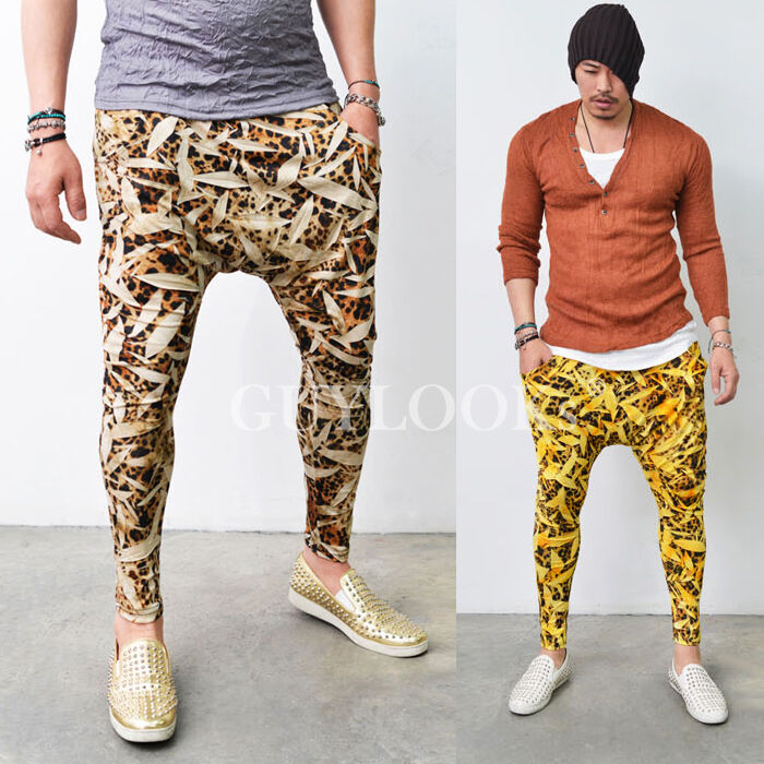 Mens Leopard Print Pants