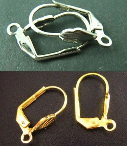 wholesale 100pcs silver gold plated earring hooks jewelry