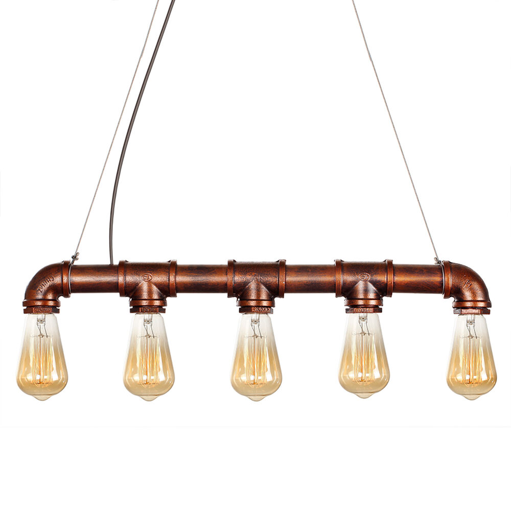 New Industrial Chandelier Pendant Loft Lamp Ceiling Metal