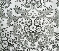 BLACK PARADISE LACE RETRO KITCHEN DINING PATIO OILCLOTH VINYL TABLECLOTH 48x72