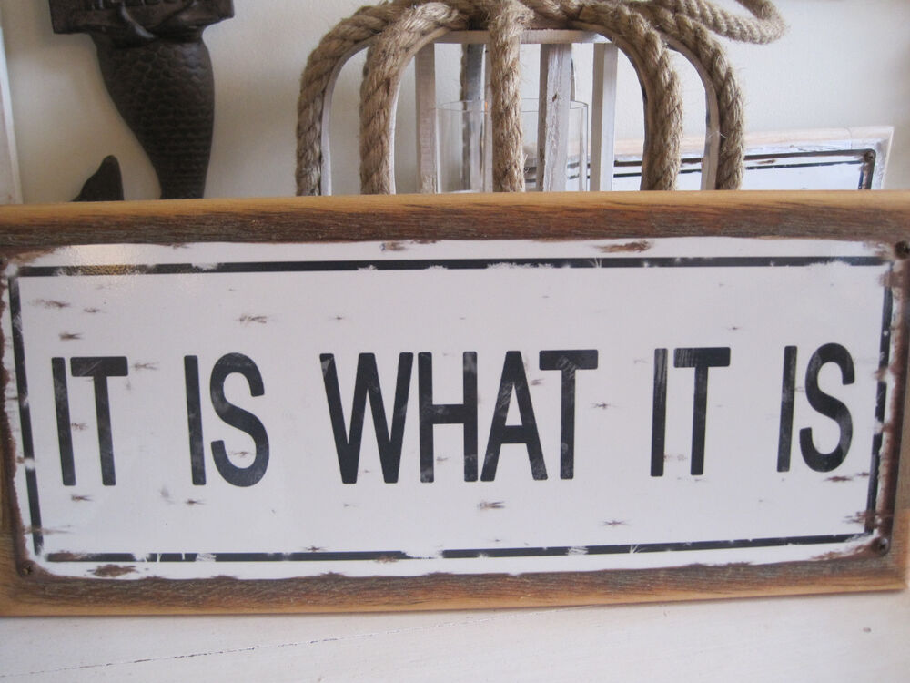 Quot it is what sign custom wooden beach decor