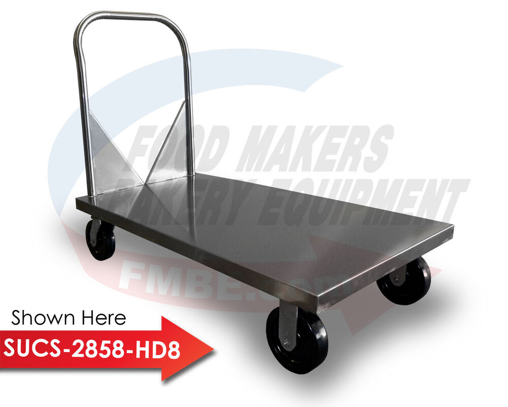 Stainless Steel Flat Bed Utility Cart Ebay