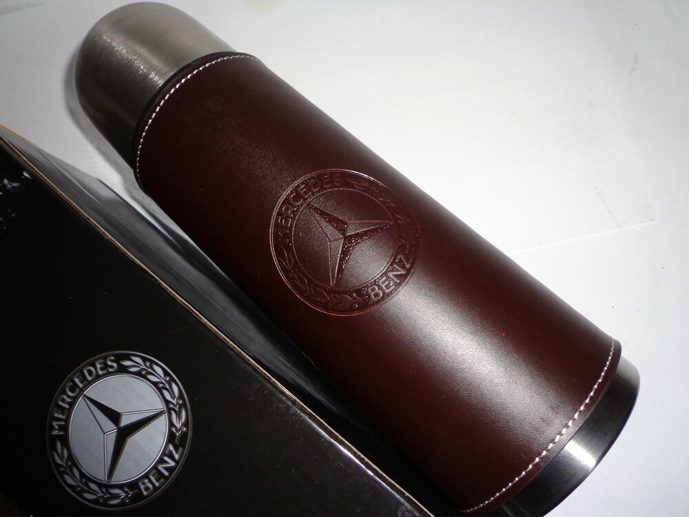 Mercedes benz thermos tumbler cup mug coffee leather ebay for Mercedes benz cup