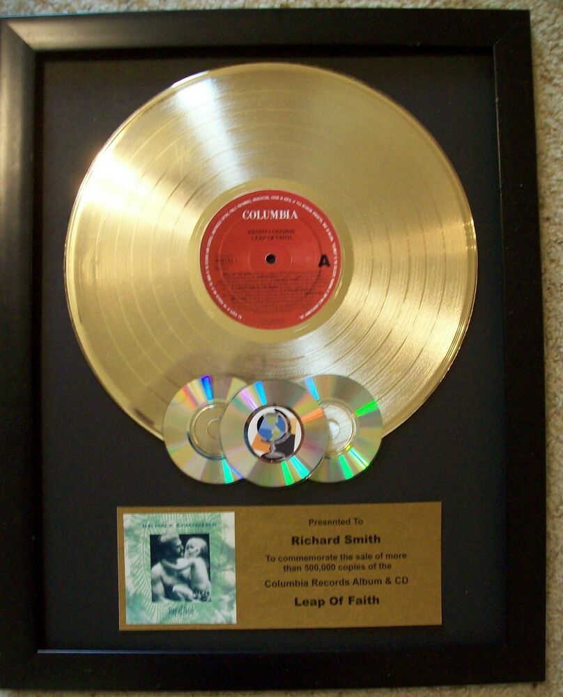 custom gold lp album record award to customize with cd 39 s display riaa style disc ebay. Black Bedroom Furniture Sets. Home Design Ideas