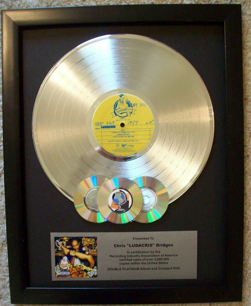 silver platinum lp album record award to custom w cd 39 s display riaa style disc ebay. Black Bedroom Furniture Sets. Home Design Ideas