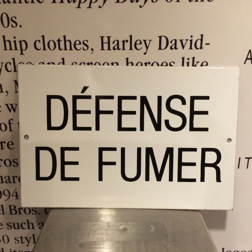 Classic Defense De Fumer English Translation No Smoking