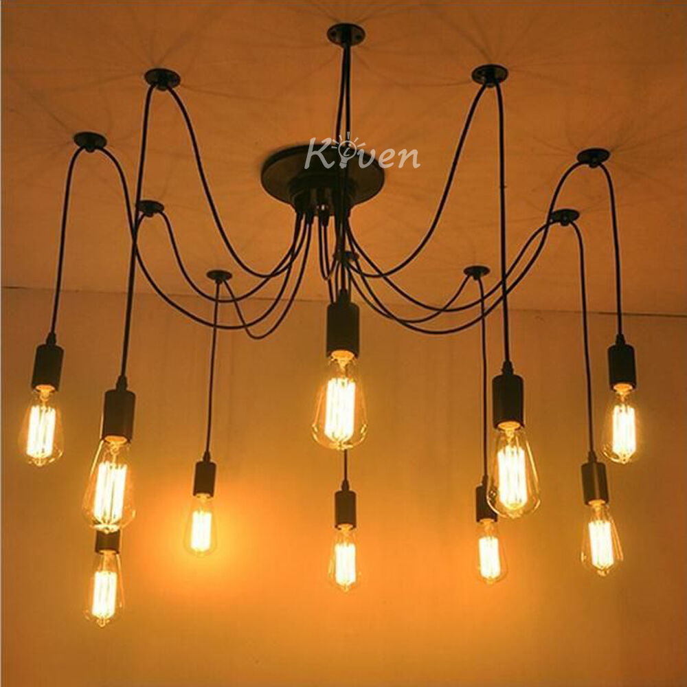 new vintage industrial diy ceiling lamp edison light chandelier