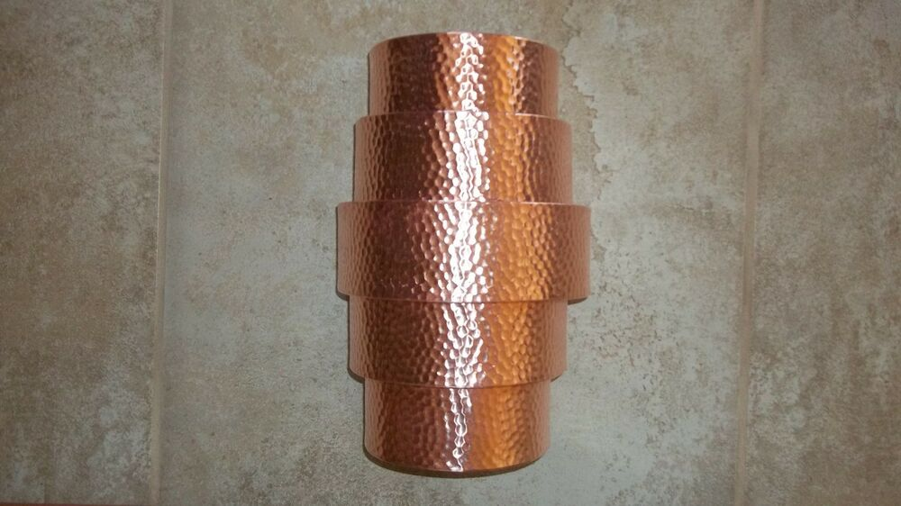Hammered Copper Wall Sconces : Hand crafted Hammered Copper Wall Sconce - Theater Light - Porch Light Fixture eBay