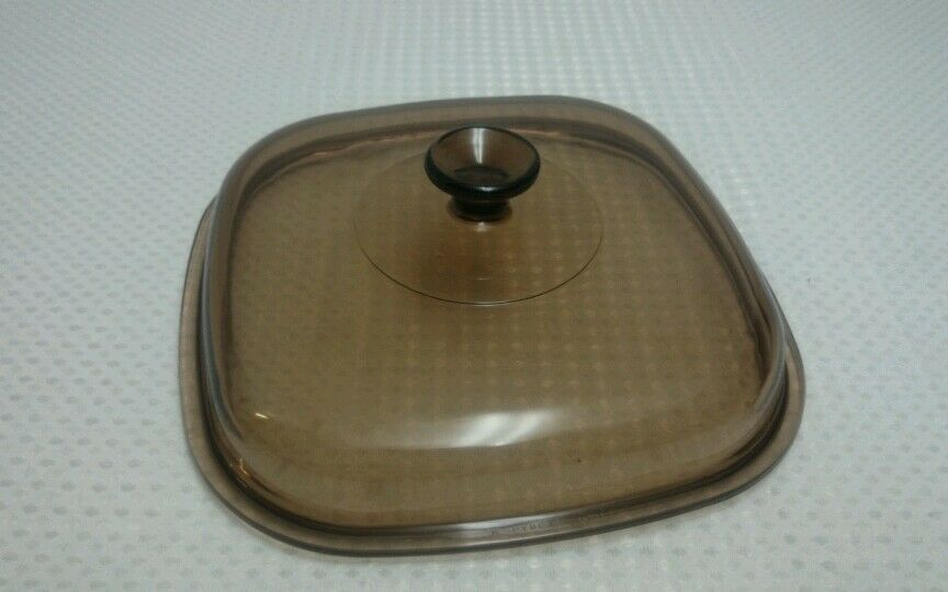 pyrex glass replacement lid 10 square clear brown corning ware casserole dish ebay. Black Bedroom Furniture Sets. Home Design Ideas
