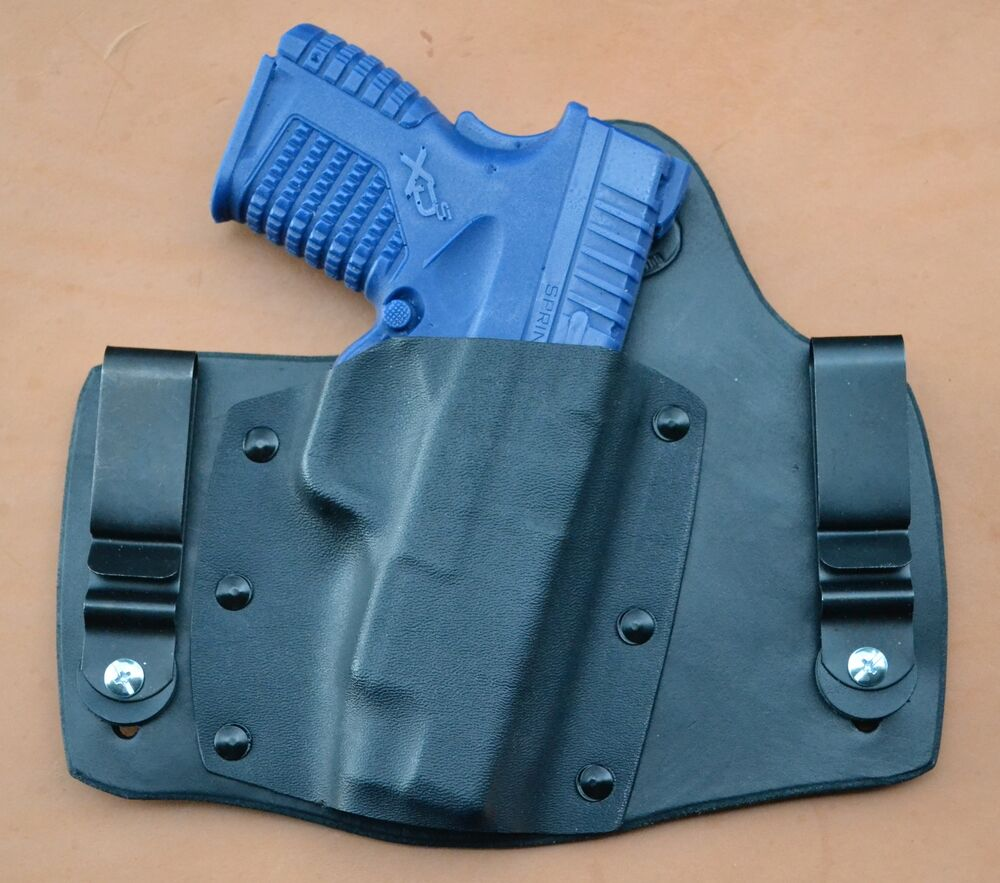 leather/kydex hybrid IWB tuckable holster Springfield XDs ...