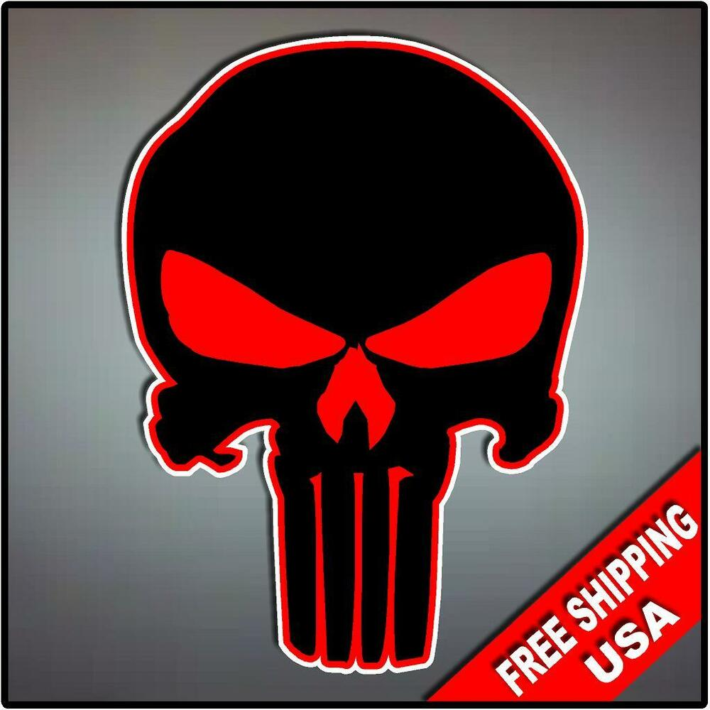 Punisher Skull Vinyl Decal Sticker Hood Vehicle Window ...