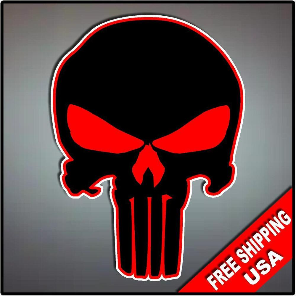 Off Road Jeep >> Punisher Skull Vinyl Decal Sticker Hood Vehicle Window Logo Off Road Jeep Black | eBay
