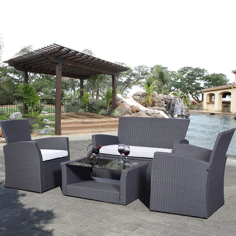 Luxury rattan sofa dining set garden furniture patio for Luxury garden furniture