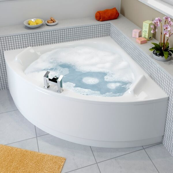 luxury left right hand 1400 x 1400 corner bath with front panel