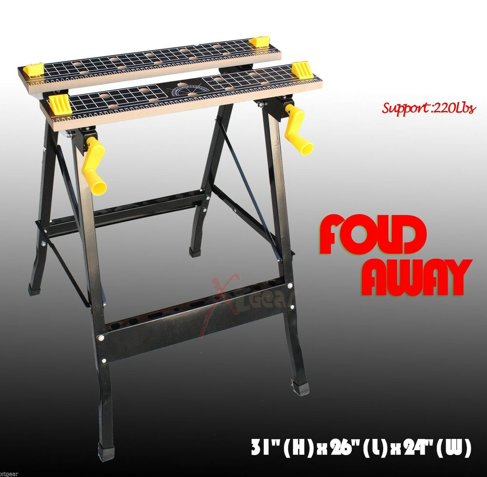 New Folding Clamping Workbench Work Bench With Movable