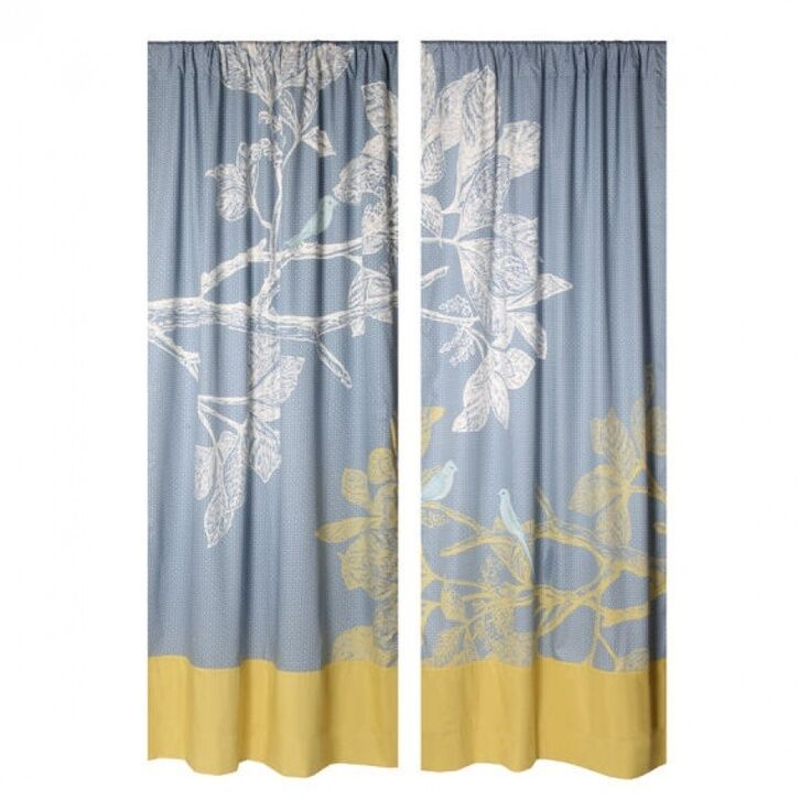 blue and white valances