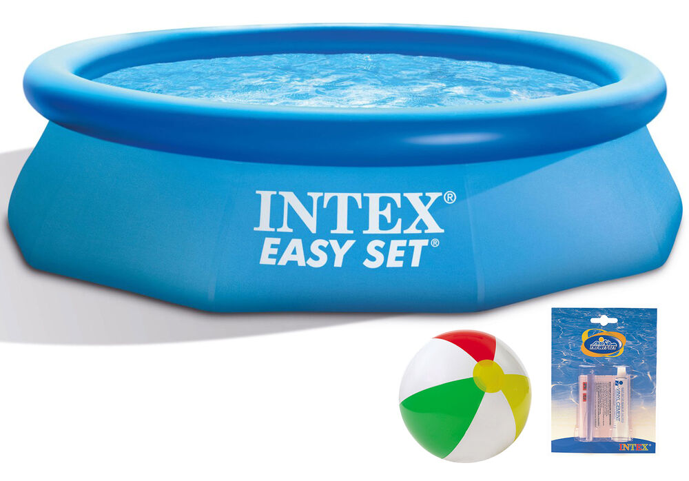 Intex Easy Set Swimming Pool 244x76 Cm Schwimmbecken Quick Up Schwimmbad 28110 Ebay