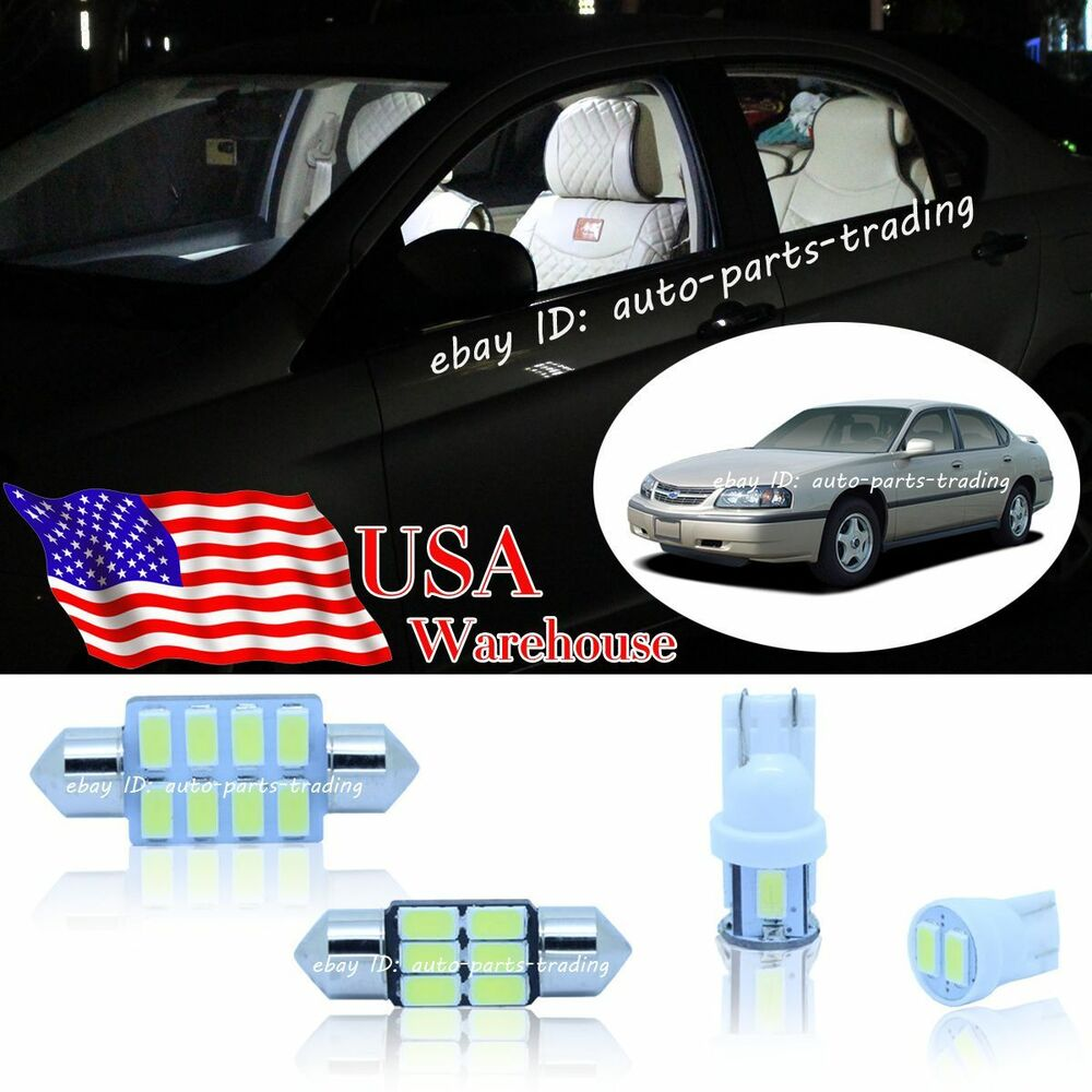 Details About 16 Pc Bright White Led Lights Interior Package Inside Kit For Chevy Impala 00 05