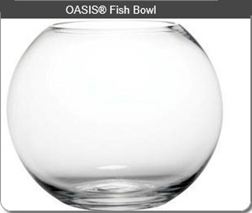 Oasis glass fish bowl large decorative wedding party ball for Large glass fish bowl