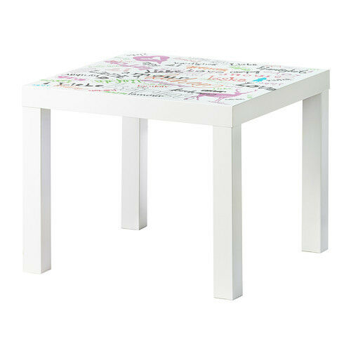 Ikea table lack side table multicolor coffee stack dorm for Ikea green side table